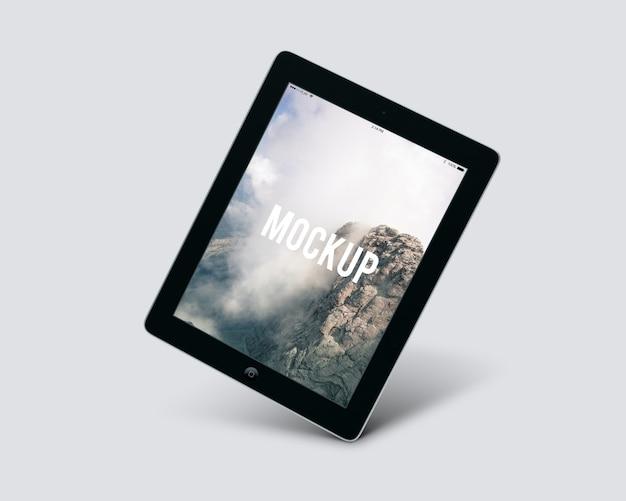 Maquette de tablette noire