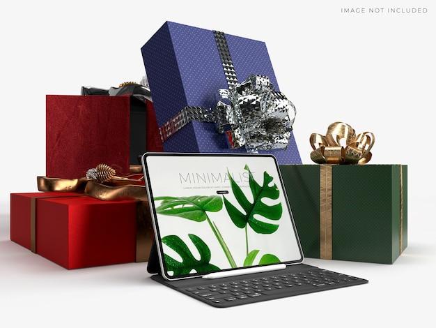 Maquette de tablette numérique pour les entreprises mondiales d'identité de marque