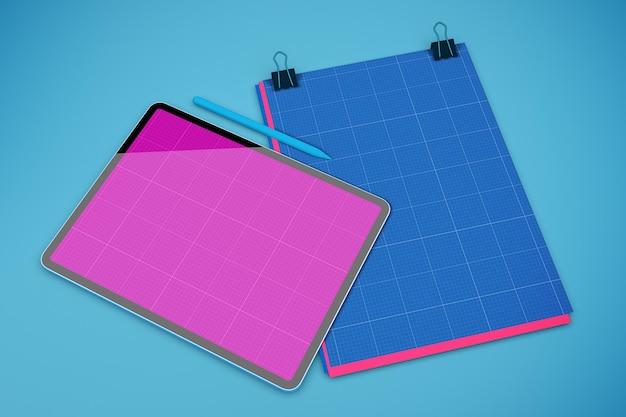 Maquette de tablette en papier a4