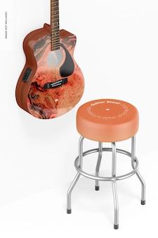 Maquette de tabouret de guitare, perspective