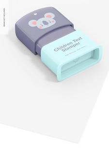 Maquette de tampon de texte pour enfants