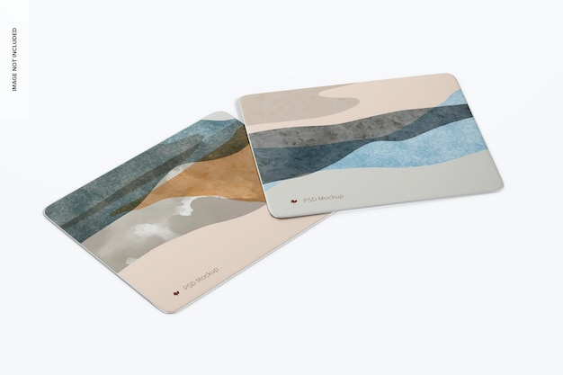 Maquette de tapis de souris rectangulaires en aluminium