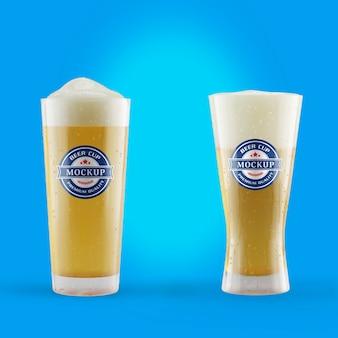 Maquette de tasse de bière