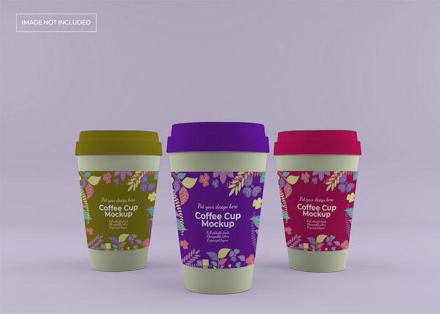Maquette De Tasse à Café à Emporter PSD Premium