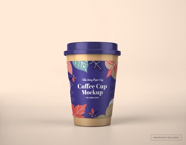 Maquette de tasse à café à emporter