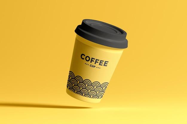 Maquette de tasse à café isolée