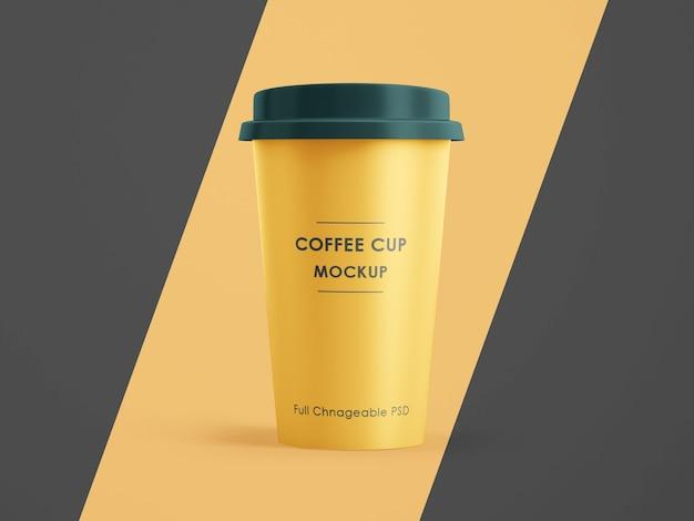 Maquette de tasse de café isolée