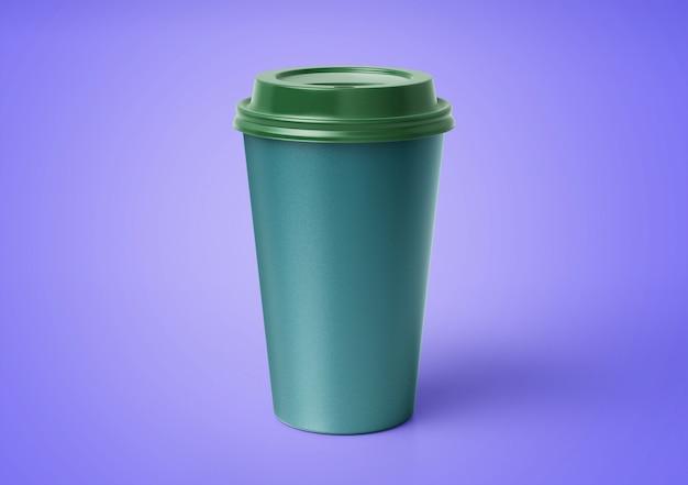 Maquette de tasse à café avec motif floral