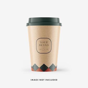 Maquette de tasse de café en papier artisanal