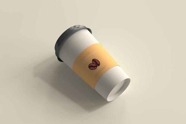 Maquette de tasse à café en papier de grande taille