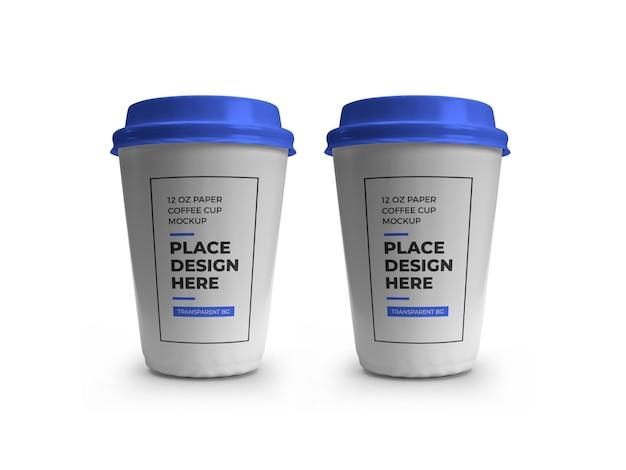 Maquette de tasse à café en papier isolée