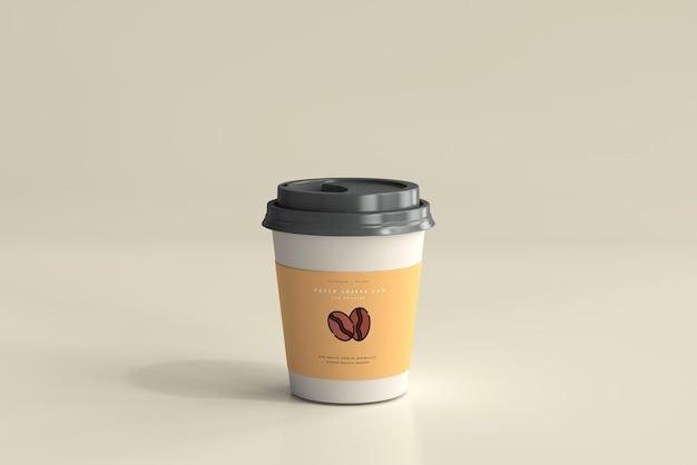 Maquette de tasse à café en papier de petite taille
