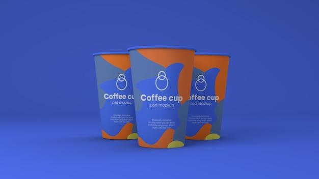 Maquette de tasse à café en papier psd