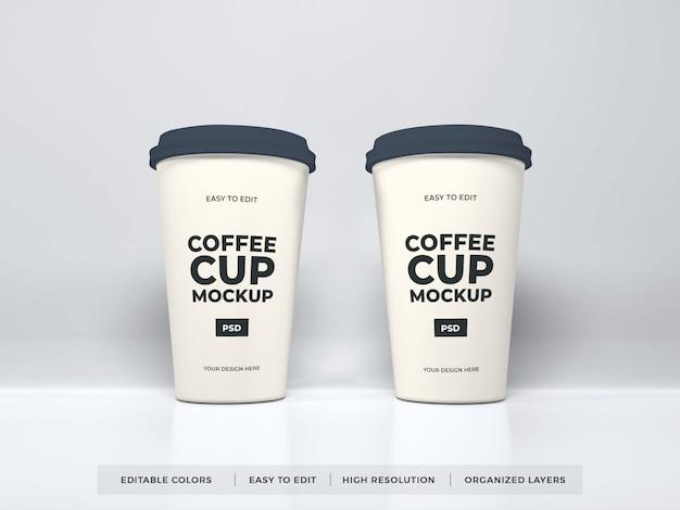 Maquette de tasse à café en papier réaliste