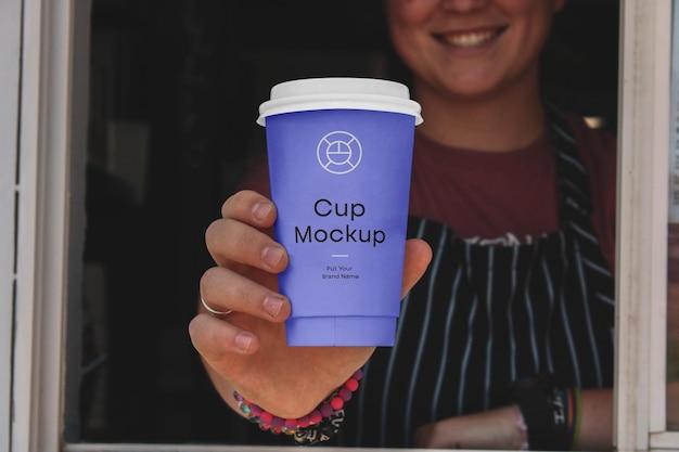 Maquette de tasse de café en papier