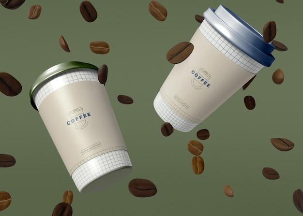 Maquette de tasse à café en papier