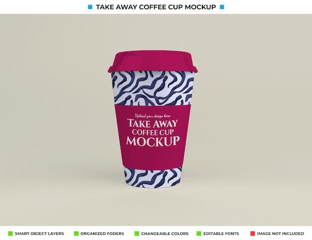 Maquette de tasse à café réaliste dans le concept à emporter