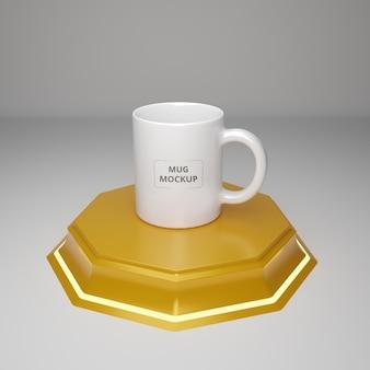 Maquette de tasse à café réaliste psd premium