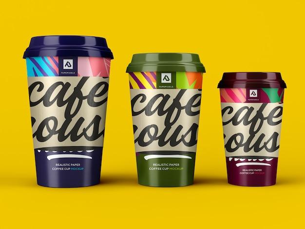 Maquette de tasse de café. récipient à café à emporter