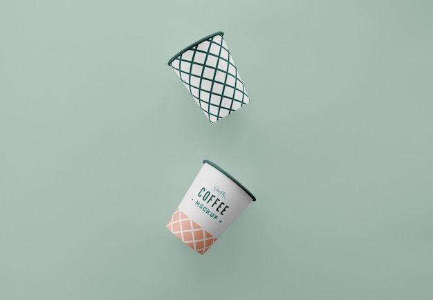 Maquette de tasse à café simple