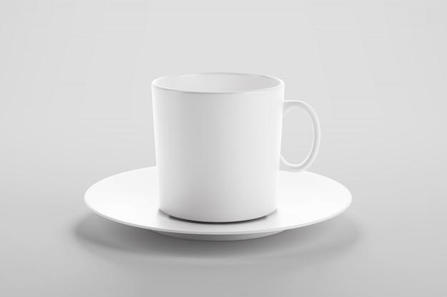 Maquette de tasse de café ou de thé en scène studio propre
