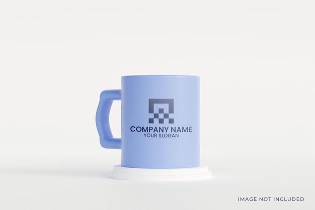 Maquette de tasse en céramique minimaliste psd premium