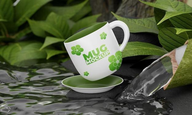 Maquette de tasse avec concept nature