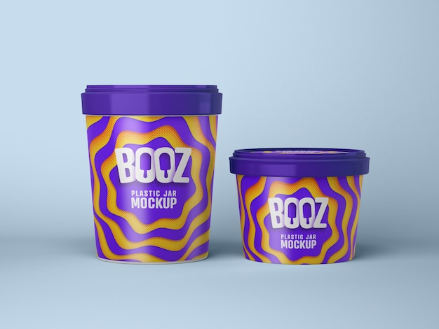 Maquette de tasse de crème glacée brillante