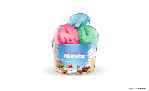 Maquette de tasse de crème glacée