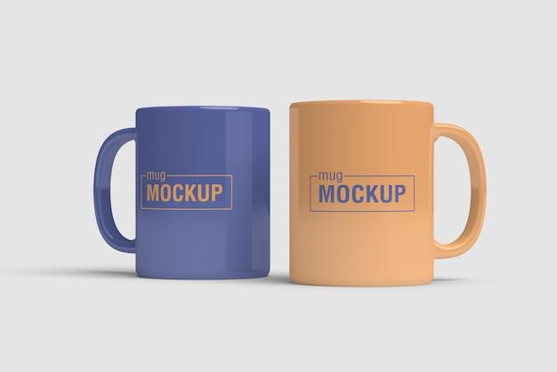 Maquette de tasse double
