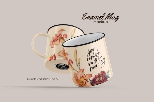 Maquette de tasse en émail classique
