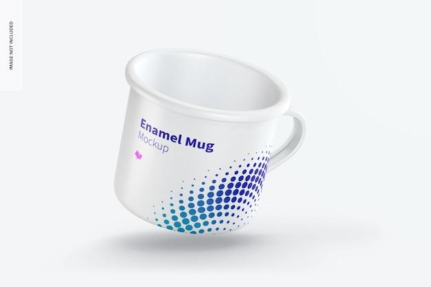 Maquette de tasse en émail, flottante