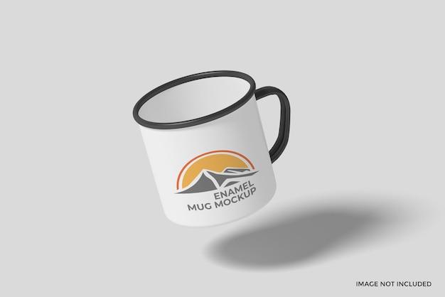 Maquette de tasse flottante en émail
