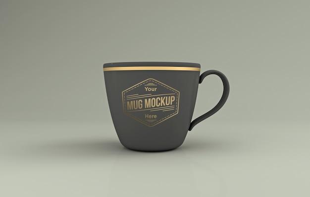 Maquette de tasse gris réaliste rendu 3d isolé