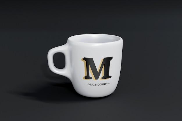 Maquette de tasse isolée