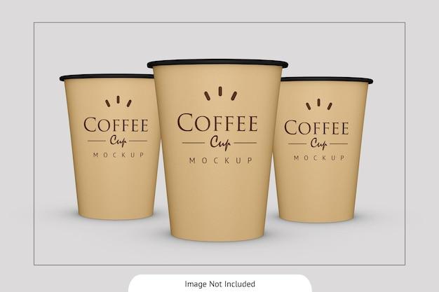 Maquette de tasse de papier de boisson élégante