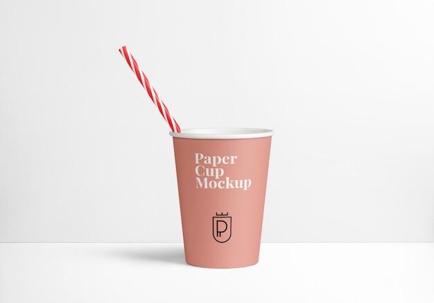 Maquette de tasse en papier