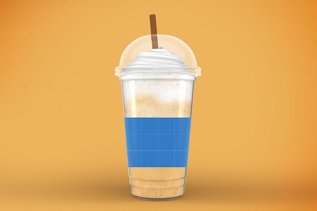 Maquette de tasse en plastique. emporter