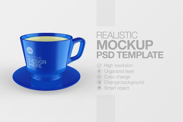 Maquette de tasse réaliste