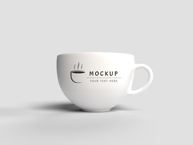 Maquette de tasse de rendu 3d isolée