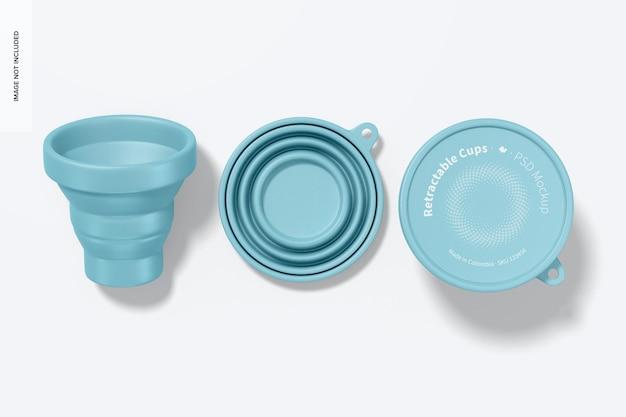 Maquette de tasse rétractable, vue de dessus