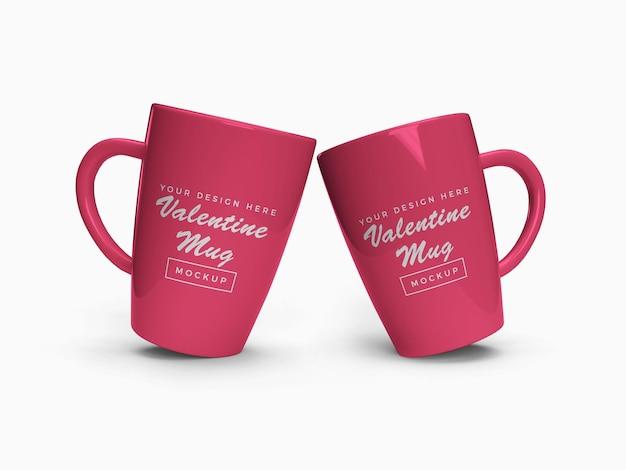 Maquette de tasse rose isolée