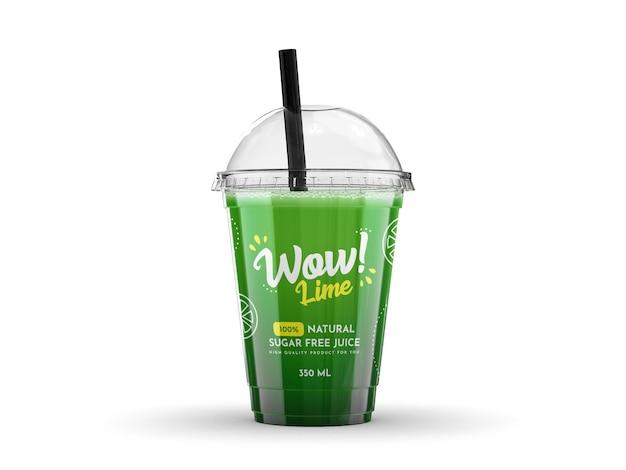 Maquette de tasse de smoothie