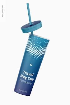 Maquette de tasse de tasse de voyage, tombant