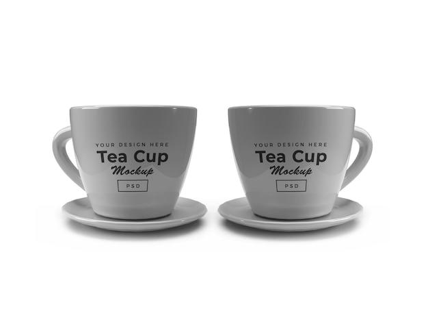 Maquette de tasse de thé isolée