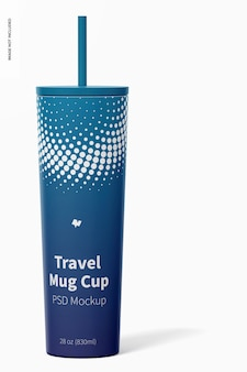 Maquette de tasse de voyage