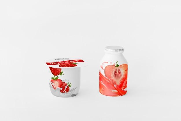 Maquette de tasse de yaourt