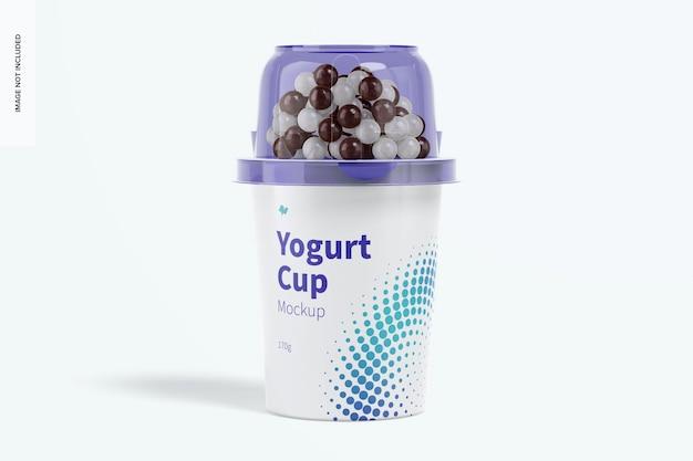 Maquette de tasse de yogourt