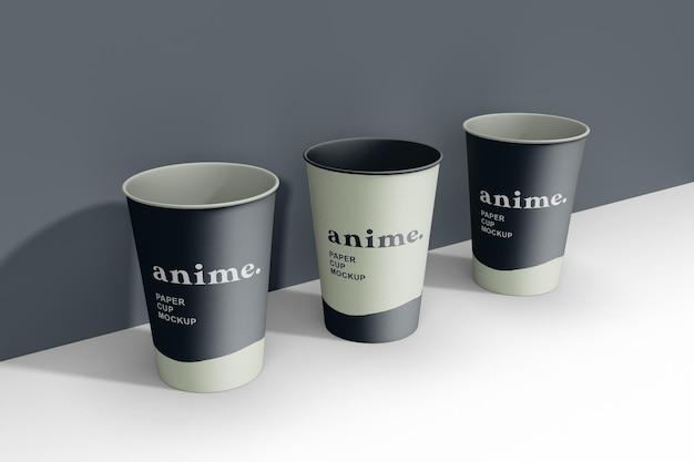 Maquette de tasses à café réaliste