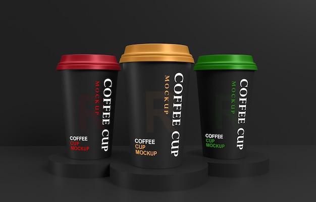 Maquette de tasses à café avec support de produit